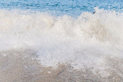 Ocean wave rush close up Stock Photography