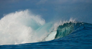 Ocean Wave is screwed into the pipe. Indian Ocean. Stock Image