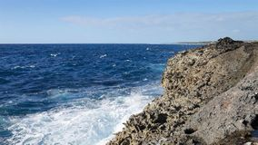 Ocean wave splash on the reef.  stock video footage