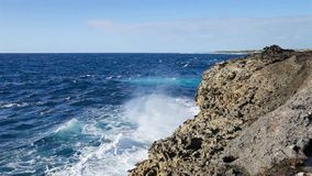 Ocean wave splash on the reef.  stock video