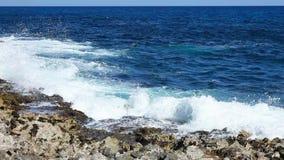 Ocean wave splash on the reef. Video stock video