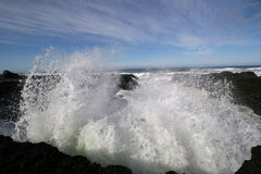 Ocean wave spray. stock images