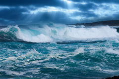 Ocean Wave. In stormy weather Royalty Free Stock Photo