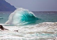 Ocean Wave / Surf / Breaking Wave. Unusual ocean wave breaking onshore in Hawaii, USA Stock Photos