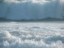 Ocean waves. Large waves in the Pacific ocean stock image