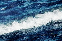Ocean Waves. The ripple of the Ocean wave on the beach Royalty Free Stock Image