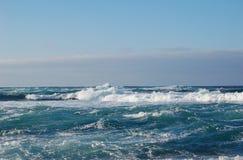 Ocean waves. Waves on the Atlantic near Fuerteventura, Canary Islands Stock Photo