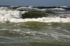 Ocean waves. Crashing to shore along coastline stock photos