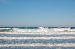 Ocean waves. Waves on the Atlantic near Fuerteventura, Canary Islands Royalty Free Stock Photo