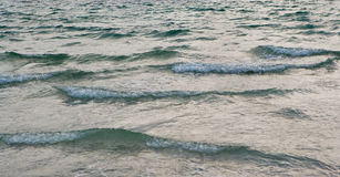 Ocean Waves. Gentle ocean waves moving along the surface of the sea Stock Image