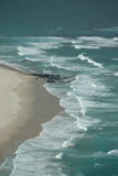 Ocean Waves. Image taken of beach waves from a helicopter Royalty Free Stock Image