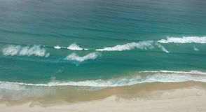Ocean Waves. Image taken of beach waves from a helicopter Royalty Free Stock Photography