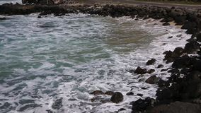 Ocean waves on  Ahihi-Kianu Reserve stock footage