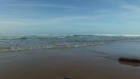 Ocean waves at the atlantic ocean stock video