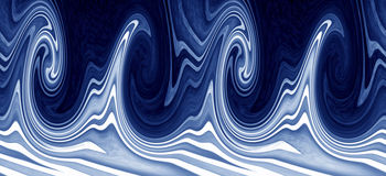 Ocean waves banner. Blue ocean waves banner texture royalty free stock photos