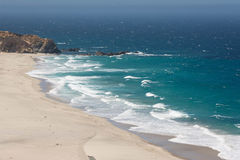 Ocean waves at the beach. Along the coast of Monterey, California Stock Image