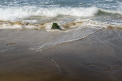 Ocean waves on a beach Royalty Free Stock Image