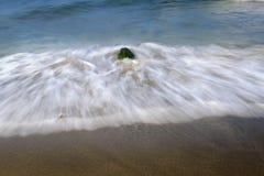 Ocean waves on a beach Royalty Free Stock Photos