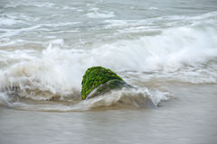 Ocean waves on a beach. Stock Images