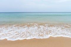 Ocean waves and beach with sand  on Koh Lanta, Krabi,Thailand Stock Photography