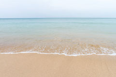 Ocean waves and beach with sand  on Koh Lanta, Krabi,Thailand Royalty Free Stock Images
