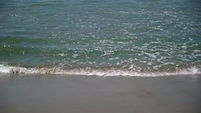 Ocean waves at the beach. At summer day stock footage