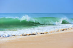 Ocean waves. And blue sky Stock Images