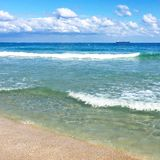 Crystal waves on Miami Beach royalty free stock images