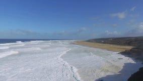 Ocean Waves Breaking on Beach stock video footage