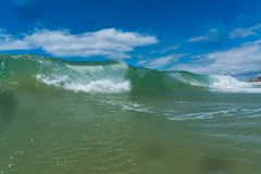 Ocean waves breaking natural background Stock Photography