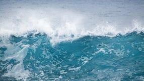 Ocean waves breaking. Powerful foamy ocean waves breaking natural water background royalty free stock image