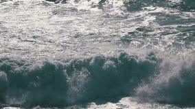 Ocean Waves Breaking on Rock stock video footage