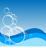 Ocean Waves and Bubbles Background (Vector) Stock Photos