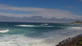 Ocean waves, Cape of Good Hope, South Africa stock video footage