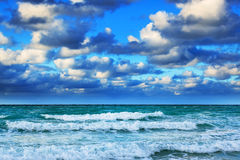 Ocean with waves Stock Image