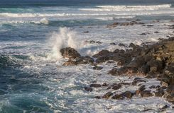 Ocean Waves Crashing Rocks on the Maui Coast Royalty Free Stock Image