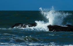 Ocean waves in Etretat Haute-Normandie Stock Image