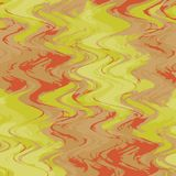 Green, red, yellow vector watercolor background for textures and backgrounds. Modern, illustration. Ocean, waves, glare, the reflection of the evening sun in Vector Illustration