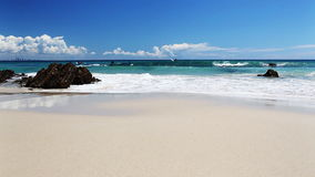 Ocean with waves at the Gold Coast beach