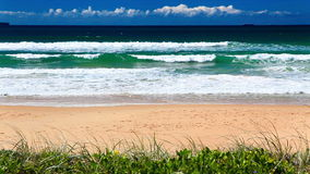 Ocean with waves at the Gold Coast beach stock footage