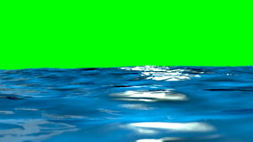 Ocean waves on green screen stock video