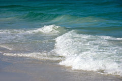 Ocean Waves. Of the Gulf of Mexico on the Sandy Beaches of Anna Maria Island Royalty Free Stock Photo