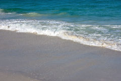 Ocean Waves. Of the Gulf of Mexico on the Sandy Beaches of Anna Maria Island Stock Photos