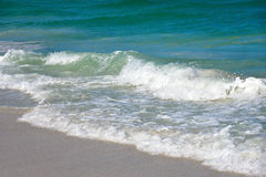 Ocean Waves. Of the Gulf of Mexico on the Sandy Beaches of Anna Maria Island Stock Photography