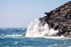 Ocean waves hits the rocks. Tenerife, Spain, Ocean waves hits the rocks Royalty Free Stock Photo