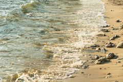 Ocean Waves on Island Coast and Shoreline Landscape Nature.Thailand. Water travel blue vacation beautiful summer outdoor tropical sand seascape paradise stock photography