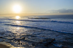 Ocean Waves Landscape Sunrise Stock Photos
