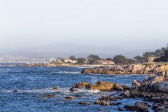 Ocean Waves at Lover's Point in Pacific Grove Royalty Free Stock Photos
