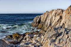 Ocean Waves at Lover's Point in Pacific Grove Royalty Free Stock Photo