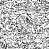 Ocean waves  pattern Royalty Free Stock Images